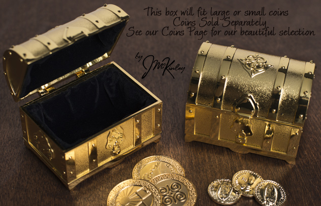 Large Gold Treasure Chest for Arras coins sold separately