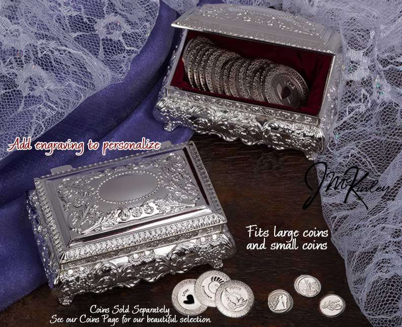 BLOWOUT SALE Stunning silver plated arras box with flowerleafscroll design and is lined