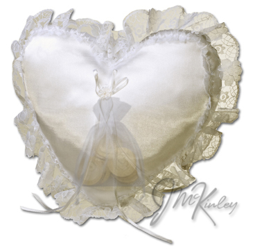 Ivory Wedding Coin Pillow