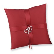With All My Heart Pillow in red