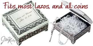 Stunning design on lasso box or arras coins box