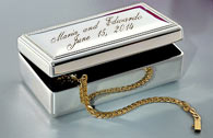 BLOWOUT SALE Beautiful arras box is high polish with elegant metal edge border Box is lin