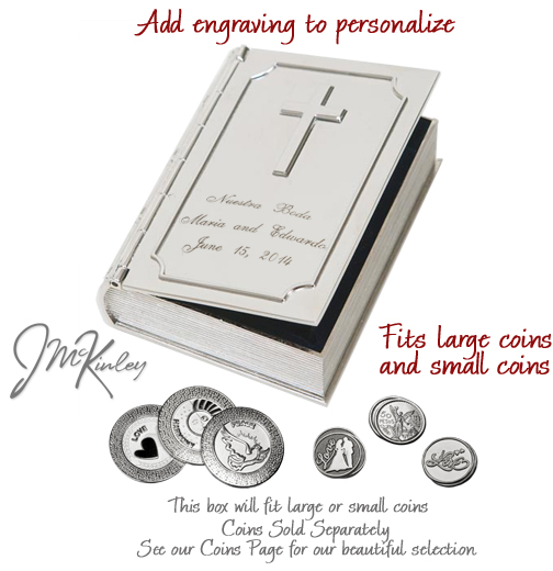 BLOWOUT SALE High polish Bible arras box is high polish with room for personalized engravi