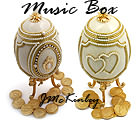 GORGEOUS Authentic Goose Egg Wedding Arras MUSIC BOX