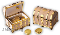 Gold Treasure Chest Music Box