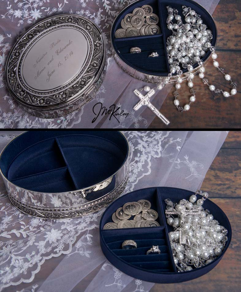 ONLY ONE LEFT-BLOWOUT SALE Stunning silver plated floral two-level oval lazo box is lined