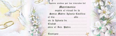 Spanish Marriage Certificate spanish wedding certificate