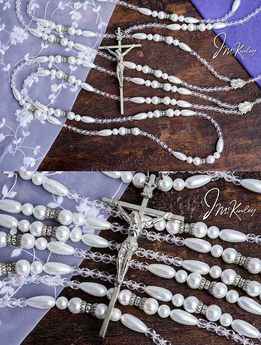 BLOWOUT SALE Elegance Lazo Stunning Pearl design soft white color round and teardrop pea