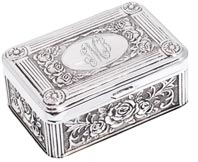 BLOWOUT SALE Silver arras box
