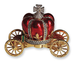 BLOWOUT SALE Gold carriage arras box