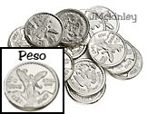 17mm Sterling Silver Wedding Arras Coins 13 Sterling Arras Coins centenario front says 5