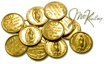 Wedding Arras Thirteen 14k Gold Plated Arras Coins Mary 13 Coins Say NTRA SRA