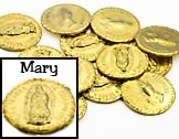 Wedding Arras 13 Gold Arras Coins Arras Tokens Mary NTRA Senora De Guadalupe Recuerdo