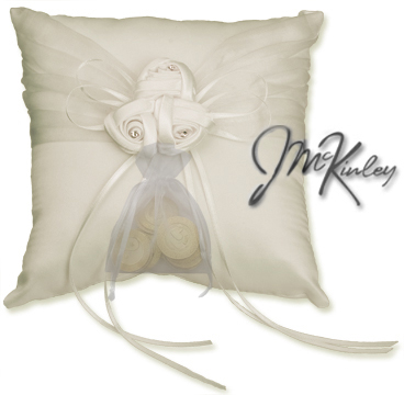 Ivory Wedding Coin Pillow we will sew on a pouch for small or large wedding coins