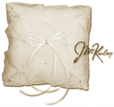 SUPERBUY Ivory Wedding Ring Pillow