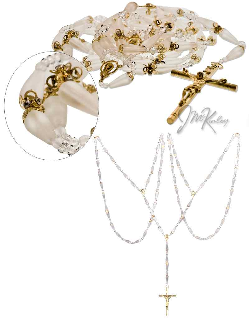 Closeout Price-Wedding Lazo with gold accents