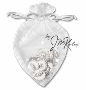 Heart Shape Wedding Arras Pouch for coins holds large or small coins coins sold separate