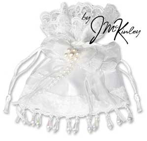 White Wedding Arras Pouch for coins holds large or small coins coins sold separately