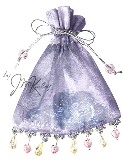 Silver and Shiny Lavendar Wedding Pouch for Arras coins holds large or small coins coins