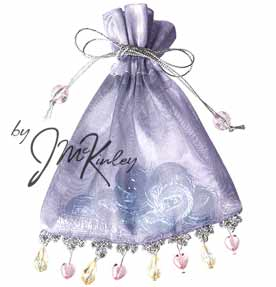 Silver and Shiny Lavendar Wedding Pouch for Arras coins