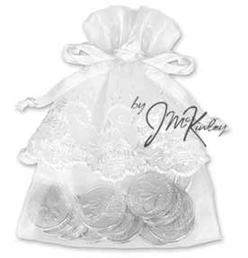 White Wedding Arras Pouch for coins