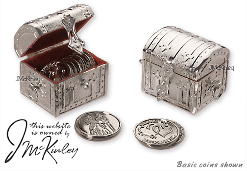 BLOWOUT SALE Wedding Arras Silver Treasure Chest