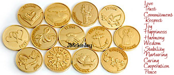 STUNNING Small Gold Wedding Coins