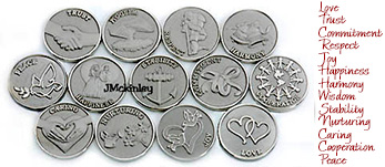STUNNING Small Silver Wedding Coins