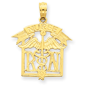 clearance item 14k Registered Nurse Pendant